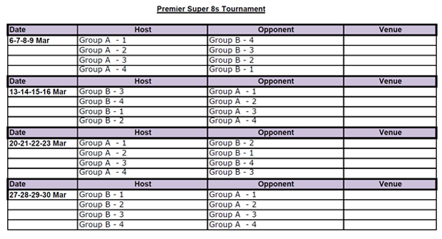 Premier Super 8s Tournament