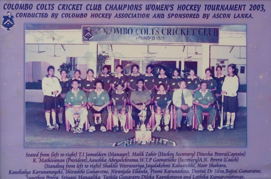 Womens Hockey Tournament Champions 2003