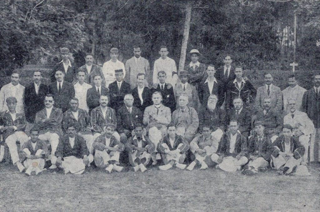 Colts Club members at the opening of the new pavilion in Havelock Park, 1924