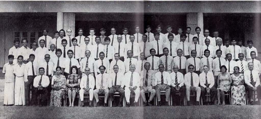 Part of membership and staff, July 1973