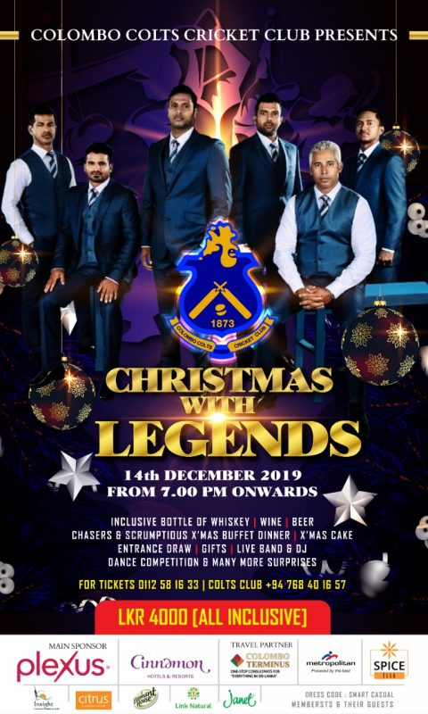 Christmas With Legends @ Colombo Colts Cricket Club